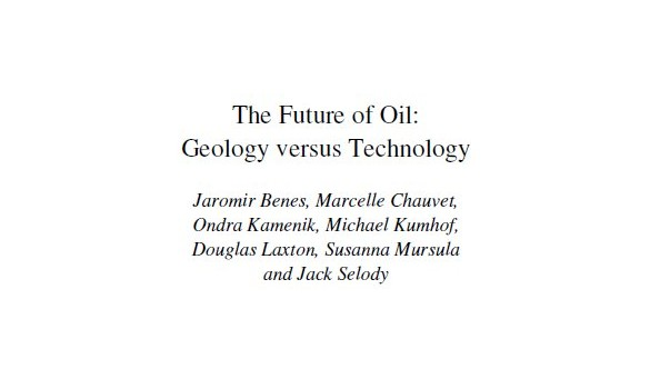 BENES, JAROMIR et al. (2012): The Future of Oil: Geology versus Technology (IMF Working Paper)