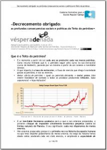 CASAL LODEIRO, MANUEL (2011): Decrecemento obrigado: as profundas consecuencias sociais e políticas do Teito do petróleo