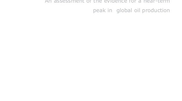UKERC (2009): Global Oil Depletion – An assessment of the evidence for a near-term peak in global oil production
